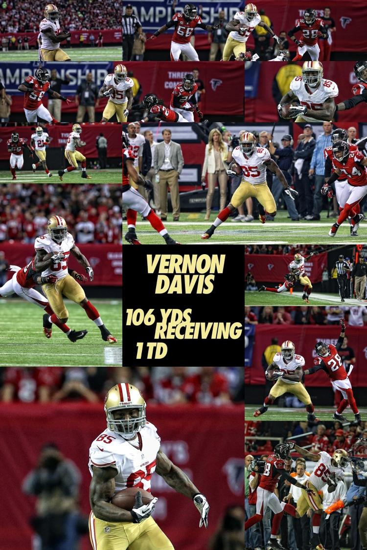 Vernon Davis NFC Championship Game vs Atlanta Falcons