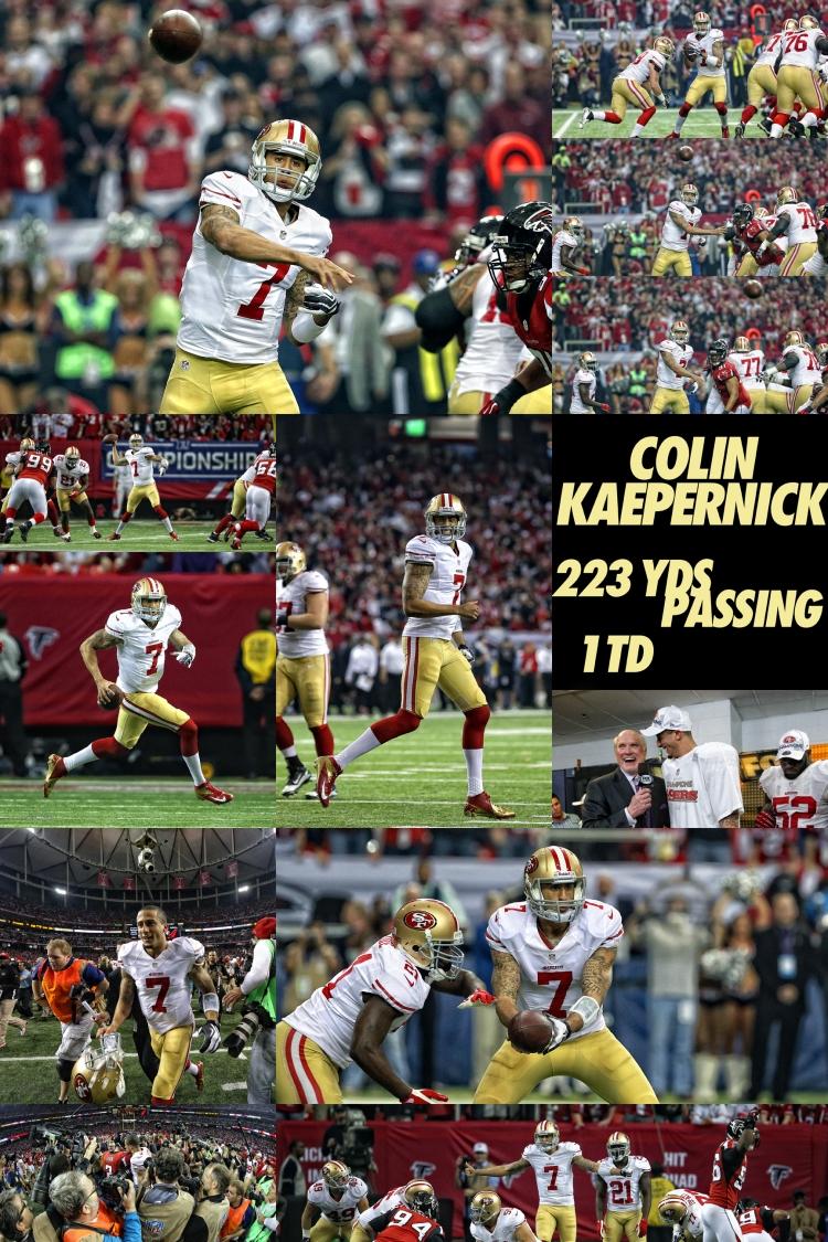 Colin Kaepernick NFC Championship Game vs Atlanta Falcons